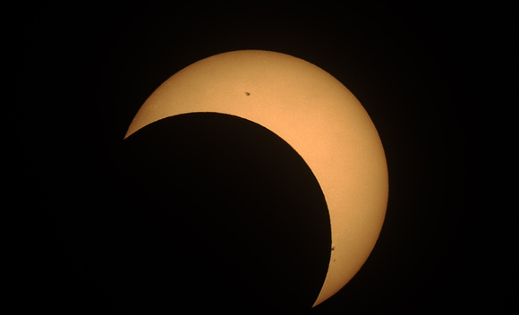Eclipse Maximum from Calgary 51°N, 7:14PM